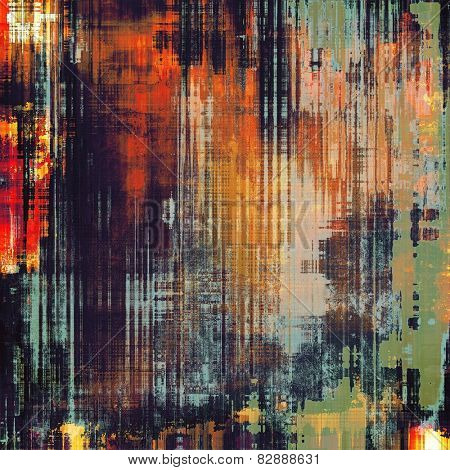 Old ancient texture, may be used as abstract grunge background. With different color patterns: yellow (beige); green; blue; red (orange); black