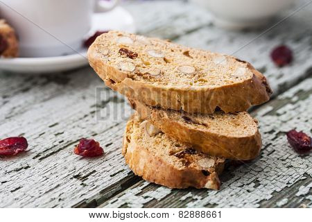 Biscotti With Dried Cranberries And Almonds