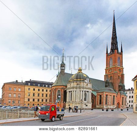 Riddarholmen Church Tower At Stockholm, Sweden