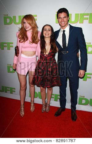 LOS ANGELES - FEB 12:  Bella Thorne, Mae Whitman, Robbie Amell at the
