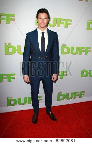 LOS ANGELES - FEB 12:  Robbie Amell at the