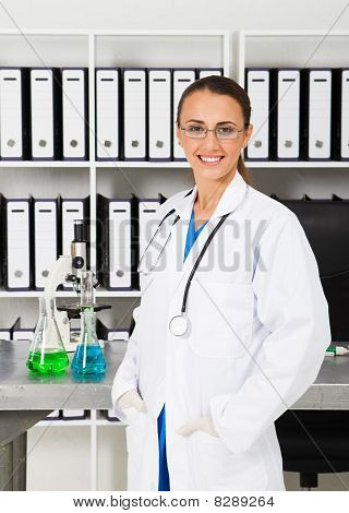 beautiful chemist in lab