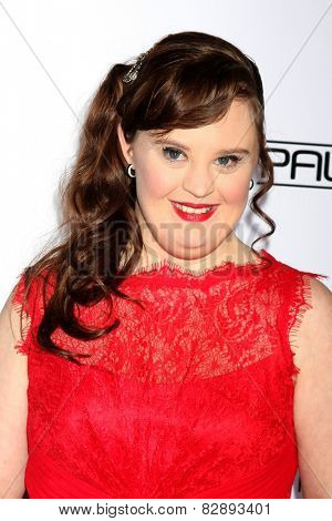 LOS ANGELES - FEB 14:  Jamie Brewer at the 2015 Make-up and Hair Stylists Guild Awards at a Paramount Theater on February 14, 2015 in Los Angeles, CA