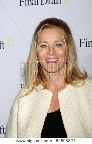 LOS ANGELES - FEB 12:  Angela Featherstone at the 10th annual Final Draft Awards at a Paramount Theater on February 12, 2015 in Los Angeles, CA