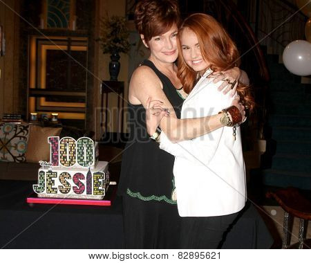 LOS ANGELES - FEB 12:  Carolyn Hennesy, Debby Ryan at the Disney Channel's