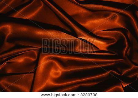 Texture Of A Red Silk Closeup