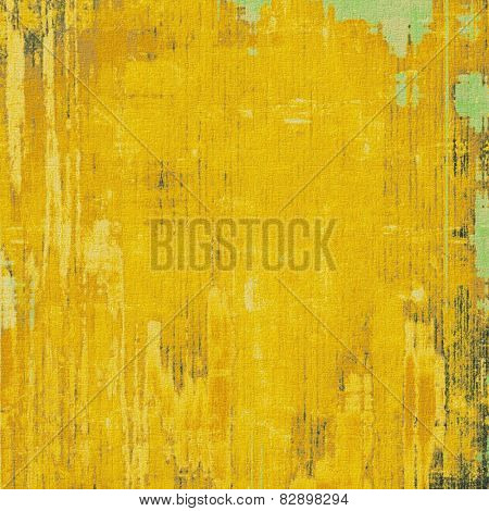 Abstract grunge background or old texture. With different color patterns: yellow (beige); brown; green