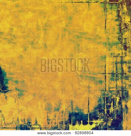 Vintage texture. With different color patterns: yellow (beige); brown; green; blue