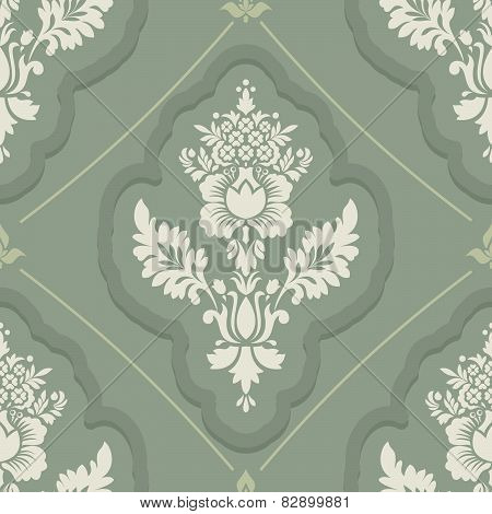 Vintage wallpaper seamless. Old Royal pattern. A decorative retro background. Royal ornament vector