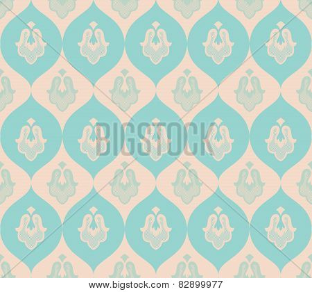 Vintage wallpaper seamless. Old Royal pattern.