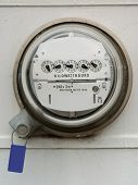 image of electricity meter  - electric meter - JPG