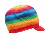 pic of rastafari  - Rainbow rasta cap isolated on a white background - JPG