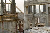 picture of formwork  - Building concrete column and formwork in construction site - JPG