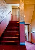 picture of brothel  - Staircase with red Carpet in a Brothel - JPG