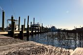 pic of dock  - Boats are docked in the coastal areas of the United States - JPG