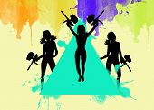 picture of paintball  - Abstract paintball or airsoft game invitation advert background with empty space - JPG