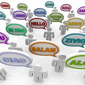 picture of dialect  - Many people from different cultures say the word hello in their native languages - JPG