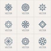 pic of mehendi  - Ornamental logo template set - JPG
