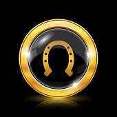 image of horseshoe  - Horseshoe icon - JPG