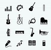 stock photo of tuning fork  - web icon illustration design vector sign symbol - JPG