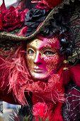 image of venice carnival  - Carnival of Venice beautiful masks at St. Mark