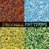 picture of swagger  - Triangle pattern background set - JPG