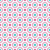 foto of pattern  - Seamless geometric pattern with bright pink and blue dots and circles - JPG