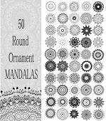 picture of indian culture  - Set of 50 Ornament round mandalas - JPG
