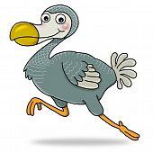 image of dodo  - Cartoon action icon of dodo bird running - JPG