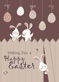 pic of easter eggs bunny  - Easter bunnies and easter eggs - JPG