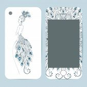 stock photo of ottoman  - Phone case collection delicate floral pattern - JPG