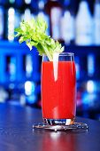 stock photo of bloody mary  - Bloody Mary is a popular cocktail containing vodka tomato juice and usually other spices or flavorings such as Worcestershire sauce - JPG
