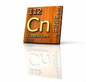 Copernicium Periodic Table Of Elements - Wood Board poster