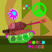 picture of panzer  - No war Postcard - JPG
