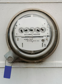 picture of electricity meter  - electric meter - JPG