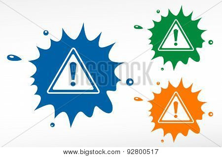 Warning Symbol - Color Blob