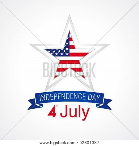 independence day USA star white