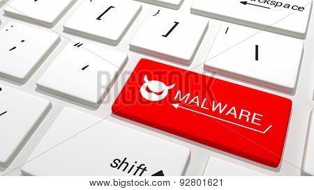 Malware Key On A Keyboard
