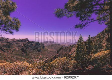 Gran Canaria landscape at dusk