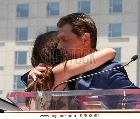 LOS ANGELES - JUN 2:  Sophie Flay, Bobby Flay at the Bobby Flay Hollywood Walk of Fame Ceremony at the Hollywood Blvd on June 2, 2015 in Los Angeles, CA