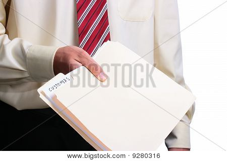 Man Giving A Folder