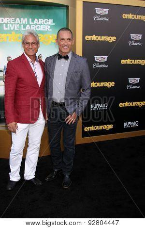 LOS ANGELES - MAY 27:  Greg Louganis, Johnny Chaillot at the