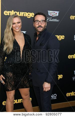 LOS ANGELES - MAY 27:  Ronda Rousey, Jeremy Piven at the
