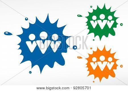 Social Network Color Blob