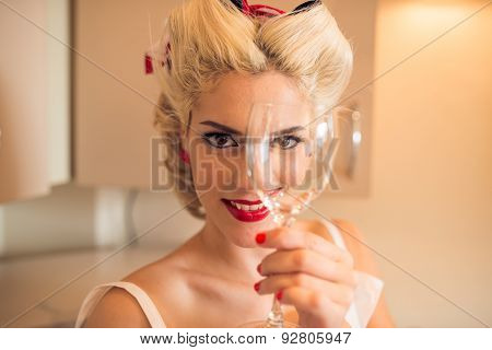 Woman With Wineglass