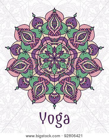 Yoga circular mandala