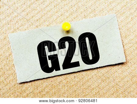 Recycled Paper Note With Word G20