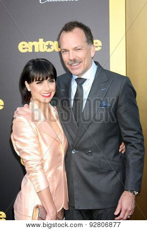 LOS ANGELES - MAY 27:  Constance Zimmer, Russ Lamoureux at the