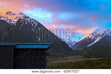 Mount Cook In Morning Twilight