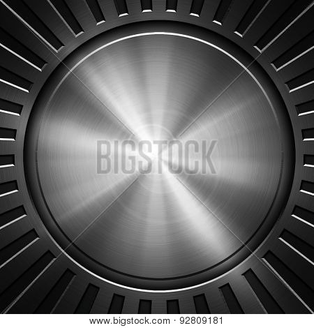 round metal with ray pattern
